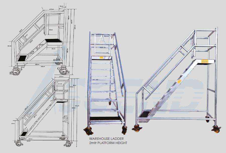 Warehouse Ladder Supplier Ladder Manufacturer Dubai